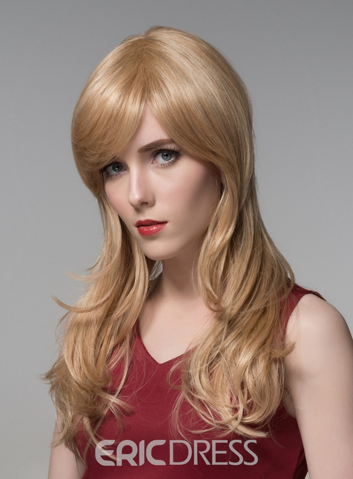 Ericdress Sweety Long Wavy Capless Human Hair Wig 22 Inches