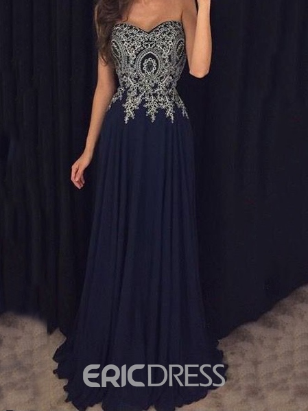 Ericdress Sweetheart A-Line Appliques Prom Dress
