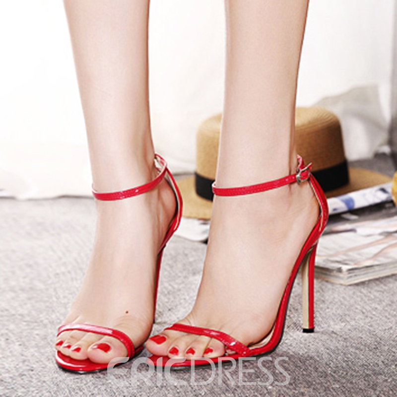 Ericdress Simple Pu Stiletto Sandals