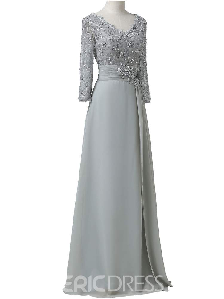 Ericdress Elegant V Neck Appliques Chiffon Mother Of The Bride Dress