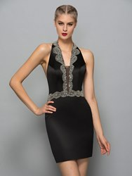 Image of Ericdress Halter Sheath Sequins Mini Cocktail Dress With Beadings