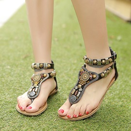 Ericdress Preppy Style Ethnic Flat Sandals