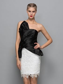 Ericdress Sheath Strapless Pleats Cocktail Dress