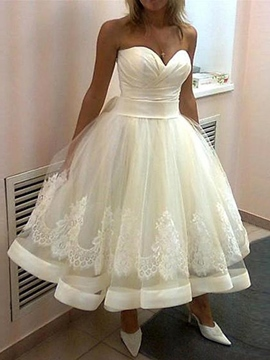 Ericdress Simple Sweetheart thé longueur robe de mariée