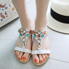 Ericdress Rhinestone Flip Flop Mules Shoes