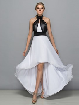 Ericdress licol Bowknot haute basse Backless Cocktail Dress