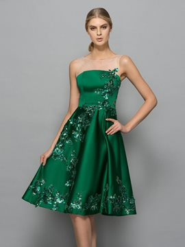 Ericdress Sheer Neck Sequins Knee-Length Cocktail Dress