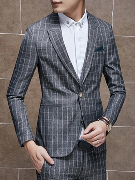 Ericdress Two-Piece of Stripe Vogue Slim Men's Suit