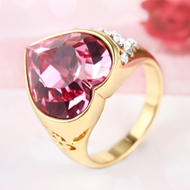 Ericdress Temperament Rose Heart Shape Ring