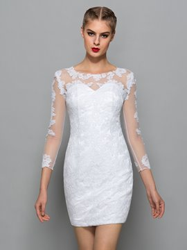 Ericdress Scoop Neck Appliques en dentelle robe de Cocktail