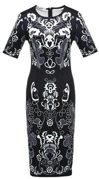 Ericdress Multi Print Short Sleeve Bodycon Dress