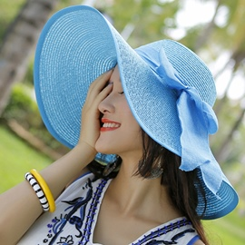 Ericdress Foldable Straw Sunhat