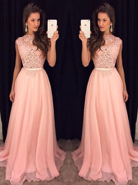 Ericdress Jewel Appliques Floor-Length A-Line Prom Dress 2019