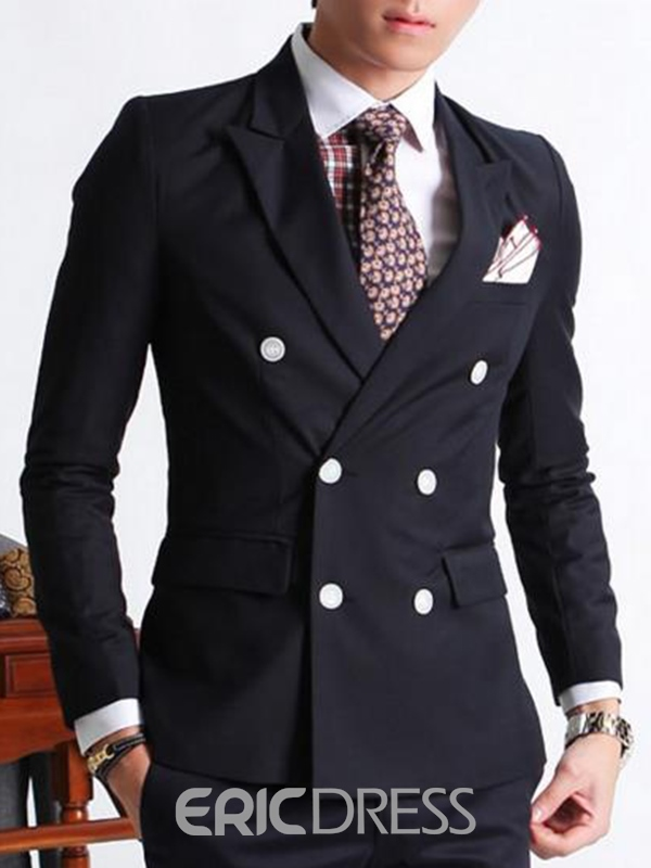 Ericdress Double-breasted Casual Mens Suit