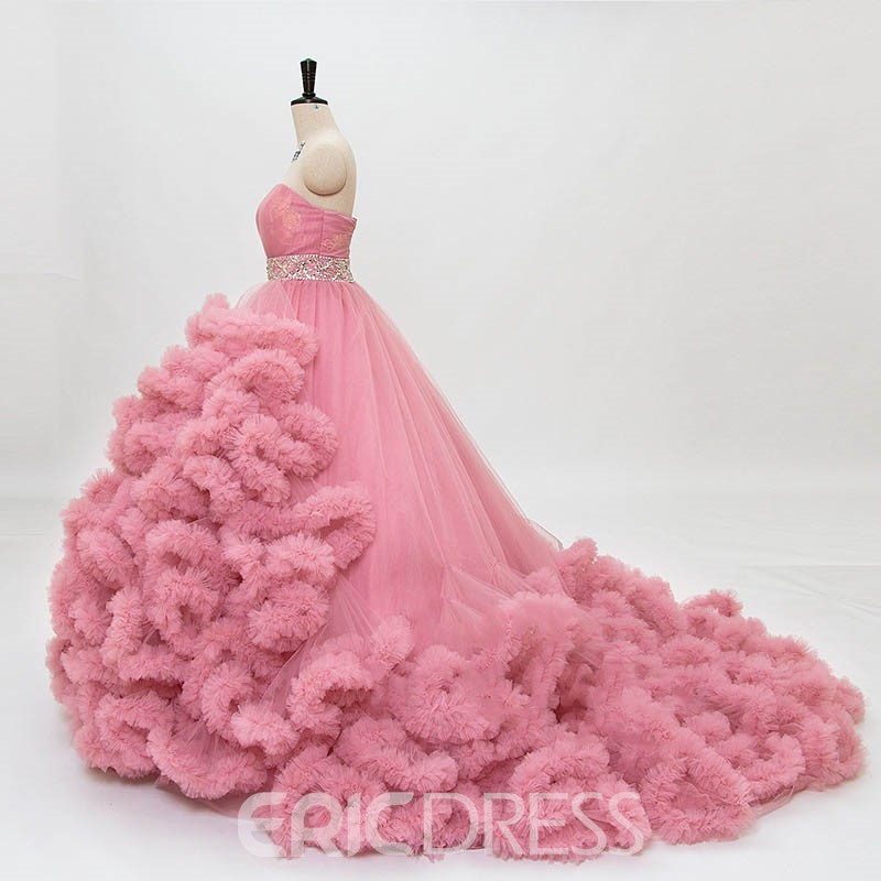 Ericdress belle perlée Sweetheart Ball Gown robe de mariée de couleur