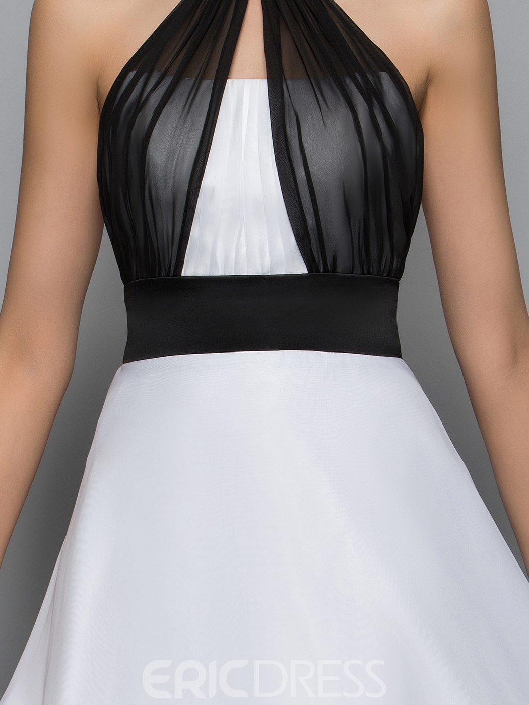 Ericdress Halter Bowknot High Low Backless Cocktail Dress