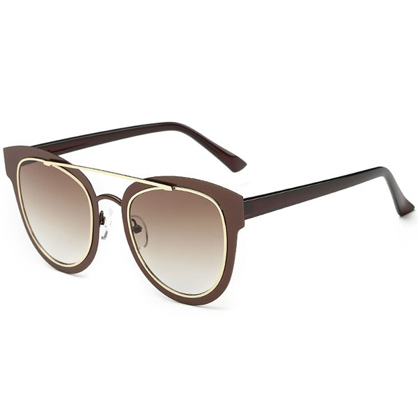 Ericdress Vogue Two Circle Sunglasses