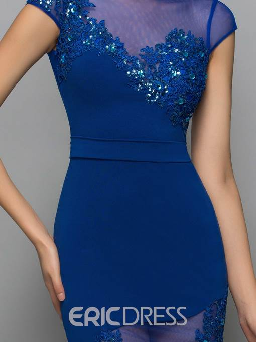 Ericdress Sheath Appliques Beading Sexy Cocktail Dress