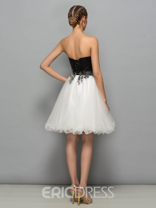 Ericdress Sweetheart Sequins Short Cocktail Dress