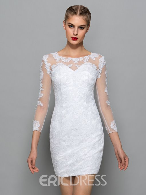 Ericdress Scoop Neck Appliques Lace Cocktail Dress