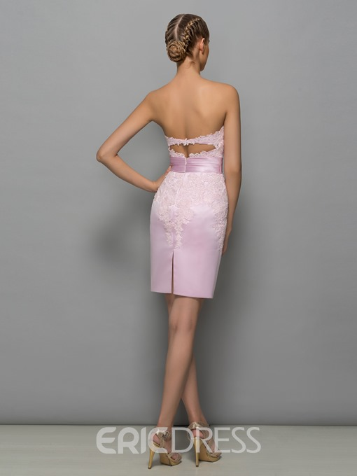 Ericdress Strapless Appliques Short Mother Of The Bride Dress With Jacket