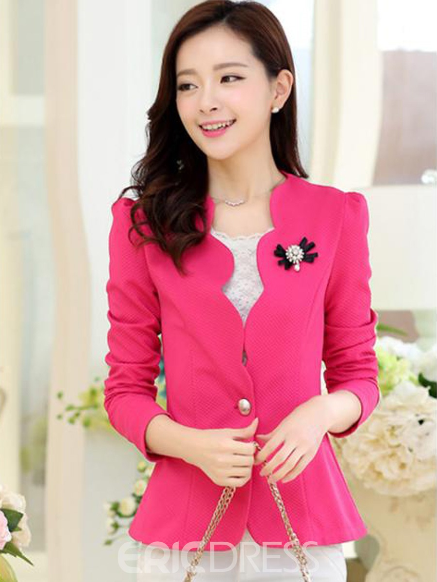 Ericdress Sweet Wave Cut Blazer