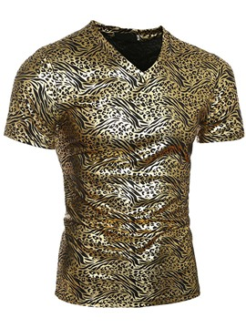 Ericdress Leopard Print Short Sleeve Men's T-Shirt