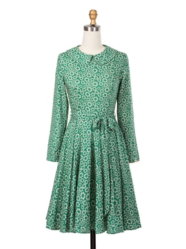 Ericdress Floral Print Lace-Up Perter Pan Collar Casual Dress
