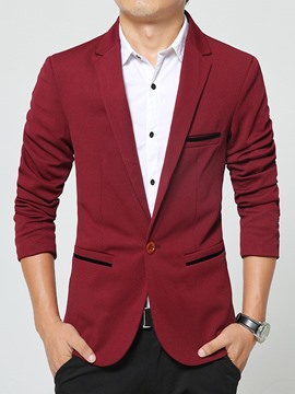Ericdress Pocket Slim Vogue Herren Blazer