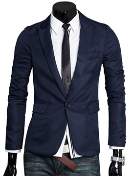 Ericdress Plain One Button Simple Men's Blazer