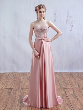 Ericdress A-Line Sweetheart Appliques Beading Crystal Lace Prom Dress