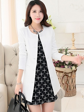 Ericdress Elegant Single-Breasted Blazer