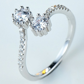 Ericdress Elegant Diamante Open Ring
