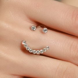 Ericdress Elegant Smile Design Opening Ring