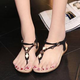 Ericdress Korean Antiskid Thong Flat Sandals