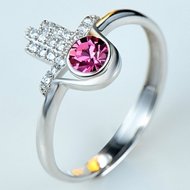 Ericdress Cool Water Drop Crystal Ring