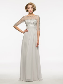 Ericdress Sequins Beading Half Sleeves Mother Of The Bride Dress