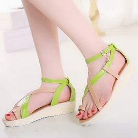 Ericdress Toe Ring Strappy Flat Sandals