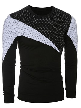 Ericdress Color Block Polka Dots Slim Men's T-Shirt