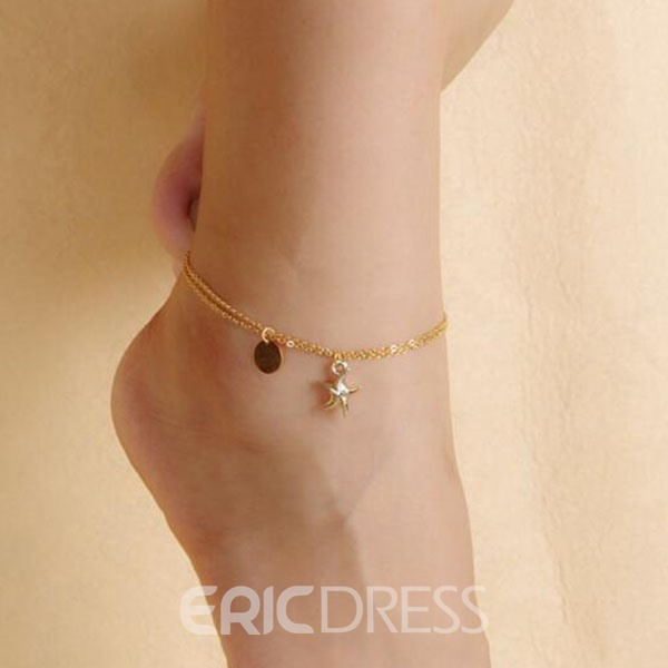 Ericdress Golden Starfish Anklet
