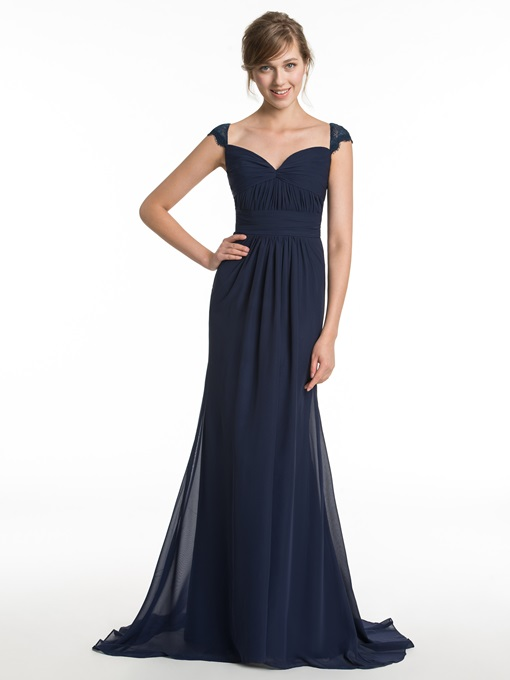 Ericdress Modest Straps A Line Long Bridesmaid Dress