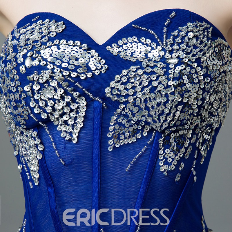 Ericdress Sweetheart A-Line Beading Sequins Split-Front Prom Dress