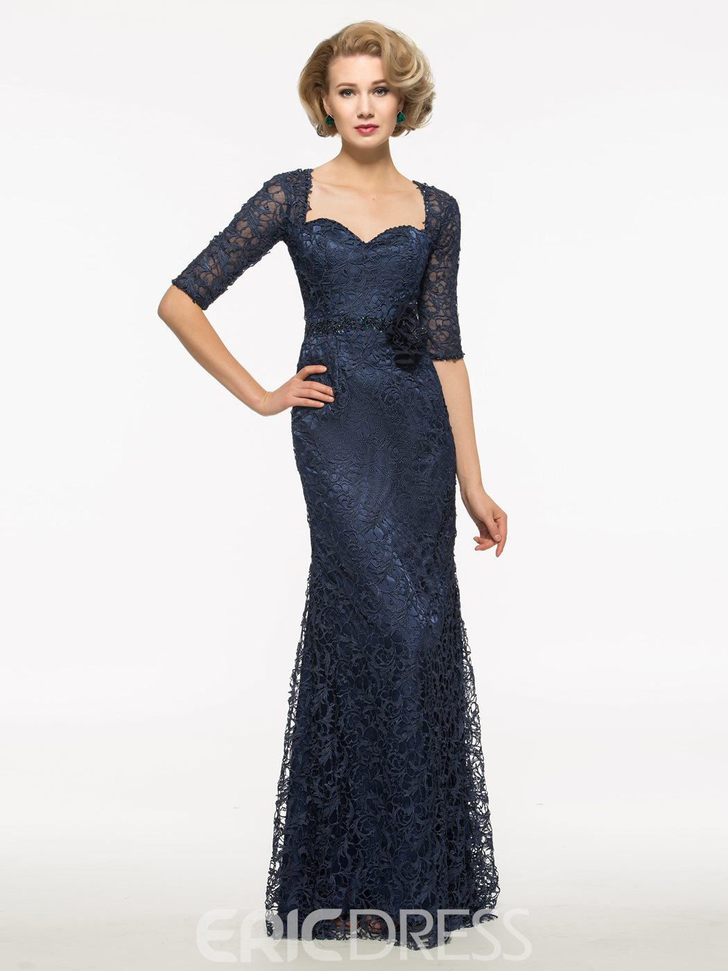 Ericdress Half Sleeves Beading Lace Mother Of The Bride Dress