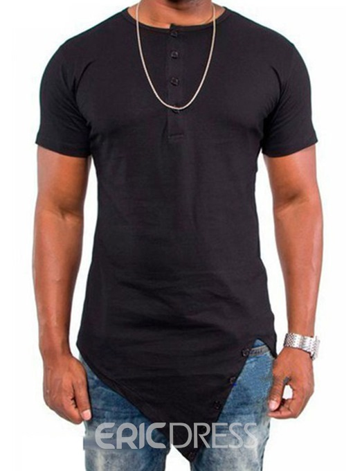 Ericdress Casual Iregular Short Sleeve Men's T-Shirt