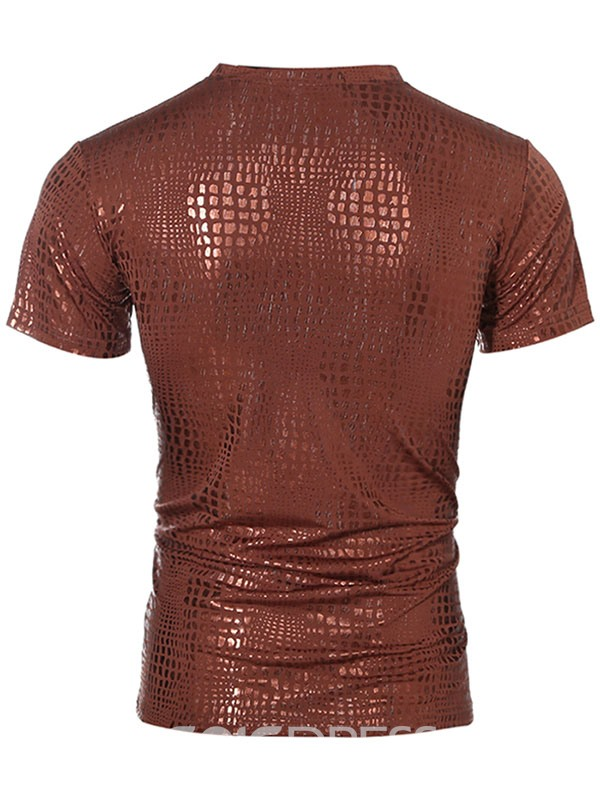 Ericdress Unique Slim Short Sleeve Men's T-Shirt