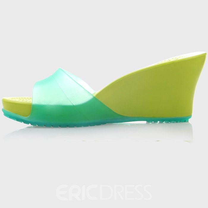 Ericdress Antiskid Peep-Toe PVC Sandals