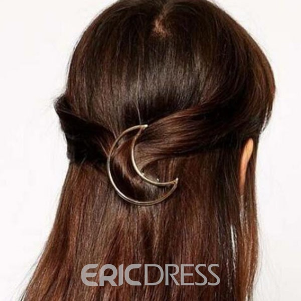 Ericdress Hollow Moon Hair Clip