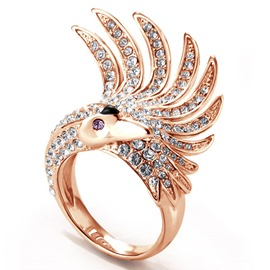 Anillo de la princesa cisne Diamante Ericdress