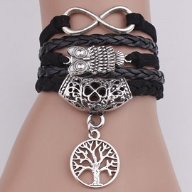 Ericdress Owl And Life Tree Pendant Bracelet