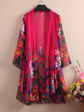 Ericdress Floral Print Sun Protective Clothing